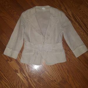 Anthropologie Idra Ruffled Jacket - Size 8